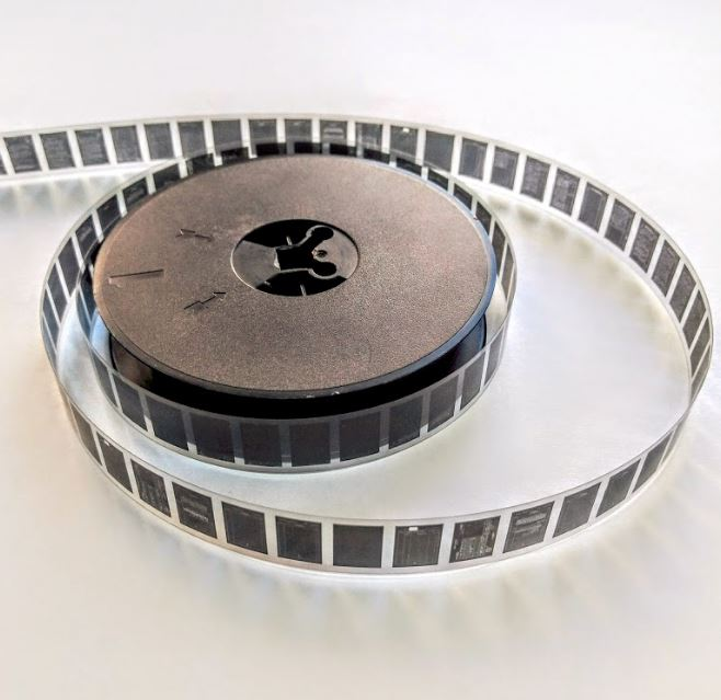 What is microfilm - A picture of a 16mm microfilm roll