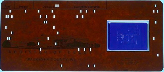 What is microfilm - Example of aperture card
