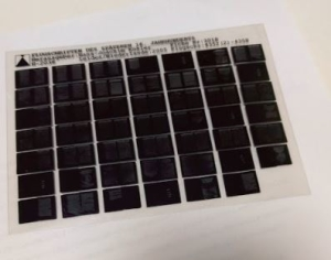 What is microfilm - Picture of a microfiche sheet
