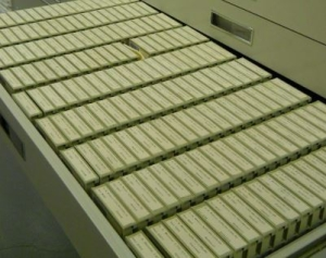 What is microfilm - Picture of a microfilm archive
