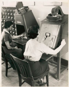 What is microfilm - Picture of vintage microfilm reader
