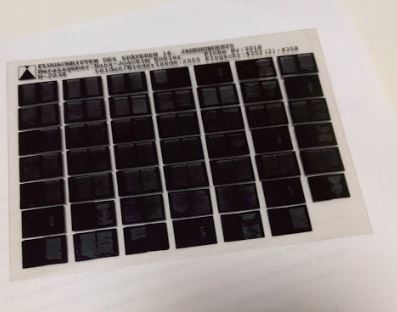Types of microfilm - Picture of a microfiche