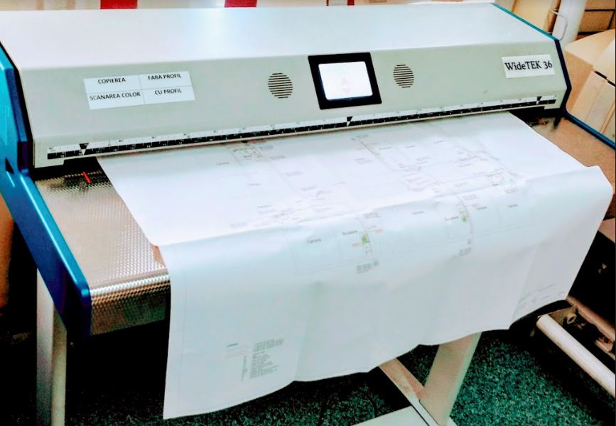 How to scan large documents - Picture of our A0 long document scanner