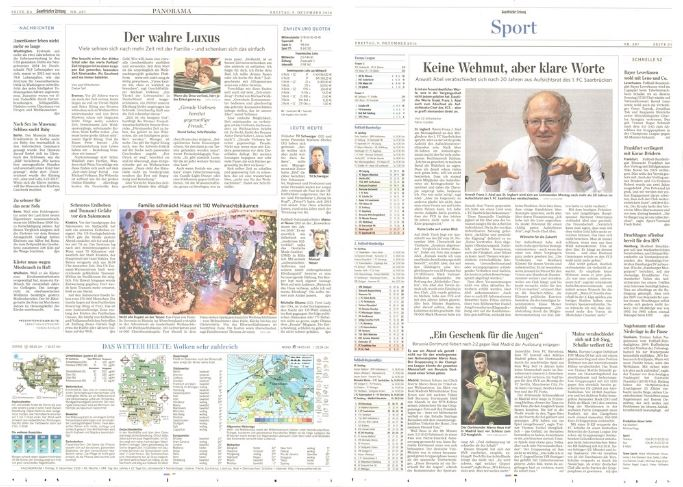 Newspaper scanning service - A picture of a scanned newspaper