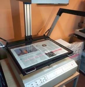 Newspaper scanning service - Scanning a tabloid size newspaper