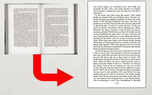 Non destructive Book scanning - How a book will look after we scan it and convert it to PDF